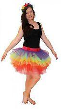 NEW Women's Tutu Costume 7 Layer 30cm Long with Pants Rainbow Ra Ra Skirt