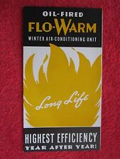 1930's WILLIAMSON OIL-FIRED FLO-WARM WINTER AIR-CONDITIONING UNIT BROCHURE