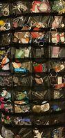 Grab Bag Lot 25+ Keychains Rings FOBS UNIQUE New Vintage Rare Designer