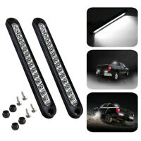 """2X 10"""" 15 LED Car Truck Trailer Turn Tail Backup Reverse Light Bar White 12V-24V"""