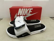 Nike Comfort 2 Slides Slip On Shoes Flip Flops White / Black Size US 13