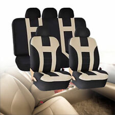 9PC UNIVERSAL LIGHT FULL CAR SEAT COVERS SET PROTECTORS WASHABLE IN BAG RED