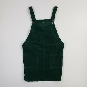 Rainbow Clothing Women Sage Green Overall Dress Corduroy Overalls Women Size L 70s Clothing Dress