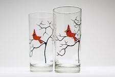 Cardinal Glassware - Set of 2 Everyday Drinking Glasses, Christmas Glasses