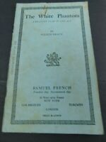 """Vintage Theater Play Books Samuel French Dramatists Plays """"The White Phantom"""""""