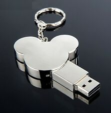 8GB Mickey Mouse USB 2.0 Pen Drive Flash Memory Stick 8 GB Argento Tone SLV