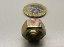 "Zinc Yellow Thin Hex Nut, Grade 8 Steel, Rh 3/8""-16 x 21/64"" Height - 100 Pcs"