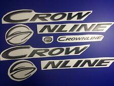 "CROWNLINE boat Emblem 33"" black Epoxy Stickers Resistant to mechanical shocks"