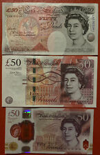 More details for 3 x uncirculated bank of england  1 x polymer plus 2 paper £50 notes.