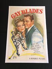 Gay Blades 1946 One Sheet Original Movie Poster
