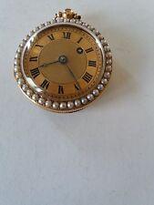 montre a gousset en or + perles a reparer.