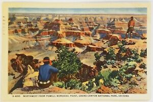 Northwest from Powell Memorial Point Grand Canyon National Park Arizona Postcard