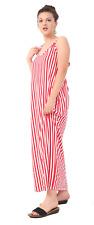 Women Cami strapy Maxi Dress Ladies Summer Cami stripy Stripe Dress Plus Size