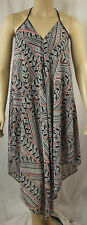 City Chic Black Strappy Asymm Maxi Marrakech Beach Dress Size XS 14 BNWOT CC350