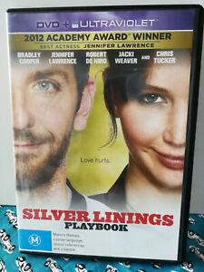 Silver Linings Playbook Jennifer Lawrence Bradley Cooper DVD Region 4 VGC