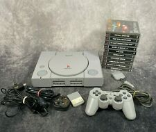 Sony PlayStation 1 PS1 SCPH-7502 Console + Official Controller & 10 Game Bundle