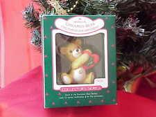 1988 Porcelain Bear #6 Cinnamon Bear Hallmark Chrismas Ornament x0535