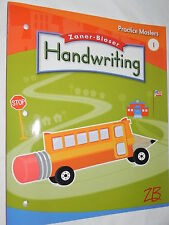 Zaner - Bloser Handwriting Practice Masters 1st Grade Level 1 Student Workbook