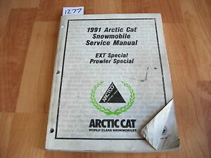 1991 Arctic Cat Snowmobile EXT / Prowler Special Service Manual