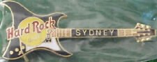 Hard Rock Cafe SYDNEY 1998 BLACK Aria GUITAR PIN - HRC Catalog #20512 Clasp Back