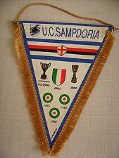 GAGLIARDETTO UFFICIALE  CALCIO U.C. SAMPDORIA ANNI '90 CON TRICOLORE SUL RETRO