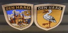 2x Sticker - Aufkleber Den Haag with org.back 80's