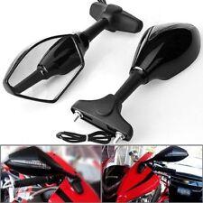 Black Sports Motorcycle LED Turn Signals Rear View Mirrors For Kawasaki ZX 6R