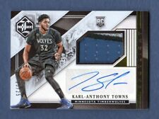 KARL-ANTHONY TOWNS 2015-16 LIMITED AUTOGRAPH PATCH AUTO RC # 25 / 25 TWOLVES
