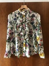 Womens H&M Floral Long Sleeved Shirt- Size 38/ 10