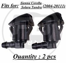 2x Windshield Wiper Spray Jet Washer Nozzle for Toyota Sienna Corolla Tundra