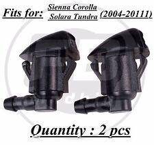 2x Windshield Wiper Spray Jet Washer Nozzle for Toyota Sienna Corolla Tundra