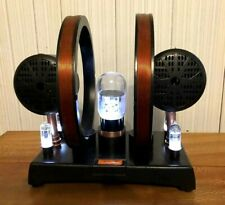 Custom Handmade Bluetooth Amplifier w/Stereo Speakers & LED Vacuum Tubes