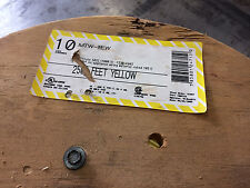 ALAN WIRE 10-MTW-STR-YELLOW 10AWG TYPE MTW 600V 19 STRAND YELLOW WIRE 1X2500