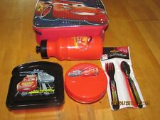 Disney Pixar Cars Lunch Pale complete set, New Free shipping.