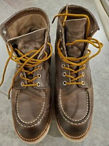 Red Wing 4548 Heritage Cement Grey Classic Moc Toe Soft Toe Men's Boots Sz 10