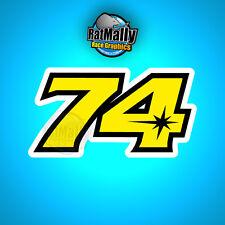 DAIJIRO KATO 74 MotoGP RENN NUMMER STICKER GRAFIK x4 KLEIN Riders für Health