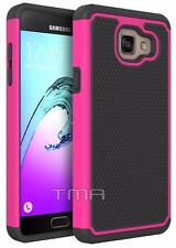 Samsung Galaxy A5 2017 Rugged Rubber Dual Layer Impact Hybrid Hard Case  - Pink