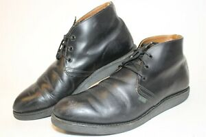 Red Wing Shoes USA Made Mens 11 D 44.5 Postman Chukka Black Leather Boots 9196