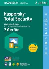 Kaspersky Total Security 2021 3 PC 2 Jahre VOLLVERSION / Upgrade 2022 DE-Lizenz