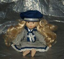 Rara Muñeca De Porcelana Azul Marino Marinero кукла BAMBOLA Puppe Muñeca