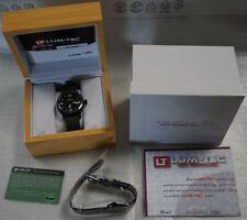 NEW Lum-Tec Combat B B36 Quartz Military Black PVD watch w/ WARRANTY