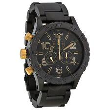 New Authentic Nixon 42-20 Chrono Watch Matte Black / Gold A037-1041 A0371041
