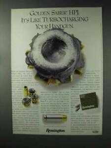 1993 Remington Golden Saber HPJ Ammunition Ad