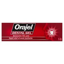 Orajel Dental GEL for Quick Pain Relief of Toothache Benzocaine 10 5.3g
