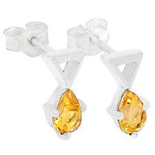 Citrine 925 Sterling Silver Earrings Jewelry E2279C