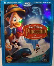 PINOCCHIO Ed SPECIALE - BLU RAY 2 Dischi + DVD Disney con SLIPCOVER
