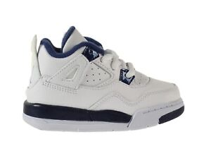 Jordan 4 Retro LS BT Baby Toddlers Shoes White-Legend Blue-Navy 707432-107