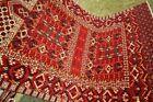COLLECTORS' PIECE Antique Hatchulu Purda Turkmenistan Fine Woven Natural Dye Rug