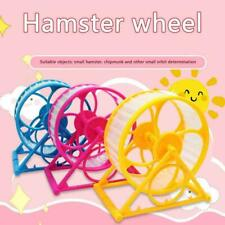 Wheel Toy Play With holder Plastic Pet Rodent Hamster Spinner Exercise Toys T3X4