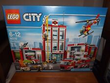 LEGO, CITY, FIRE STATION, KIT #60110, 919 PIECES, NEW IN BOX, 2016